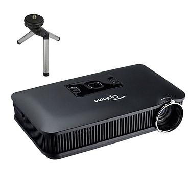 Optoma PK301 + Tripod Projecteur de poche à LED WVGA 50 Lumens avec Trépied