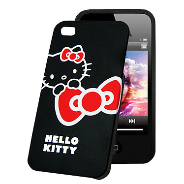 Hello Kitty Coque pour iPhone 4 Noir