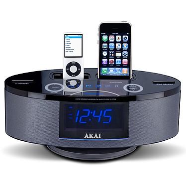 Akai AMP-10 Radio réveil 2.1 avec double station d'accueil iPod / iPhone et double alarme
