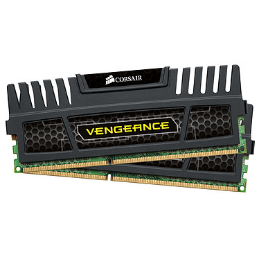 Corsair Vengeance Series 8 Go (2x 4 Go) DDR3 1600 MHz CL9 Kit Dual Channel RAM DDR3 PC12800 - CMZ8GX3M2A1600C9 (Garantie à vie par Corsair)