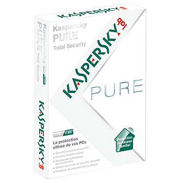 Kaspersky PURE Total Security Kaspersky PURE Total Security - Licence 1 an 3 postes (français, WINDOWS)