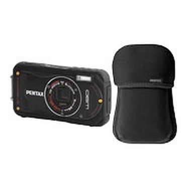 Pentax Optio W90 Noir + Etui néoprène Pentax Optio W90 Noir + Etui néoprène - Appareil photo étanche 12 MP - Zoom 5x - Vidéo HD