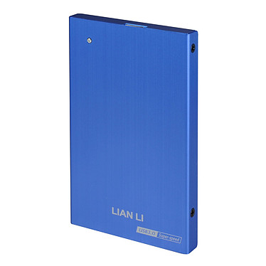 """Lian Li EX-10QI Lian Li EX-10QI - Boitier externe pour disque dur 2""""1/2 SATA sur port USB 3.0 (coloris bleu)"""