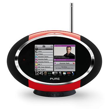 Pure Sensia Red Radio FM compatible RNT et Webradio avec écran tactile
