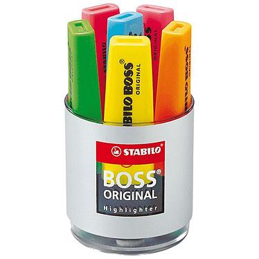 STABILO Boss Original -  Pot de 6 surligneurs assortis Pot de 6 surligneurs à encre fluorescente universelle à pointe biseautée de 2 à 5 mm