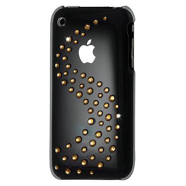 Muvit Coque transparente avec vague de cristaux Swarovski dorés pour iPhone 3G/3GS Muvit Coque transparente avec vague de cristaux Swarovski dorés (pour iPhone 3G/3GS)