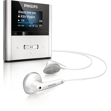 "Philips GoGear Raga 4 Go Philips GoGear Raga - Lecteur MP3 4 Go Ecran 1"""