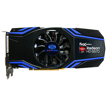 Sapphire Radeon HD 6870 FleX 1 GB Sapphire Radeon HD 6870 FleX - 1 Go HDMI/Dual DVI/Dual Mini-DisplayPort - PCI Express (AMD Radeon HD 6870)