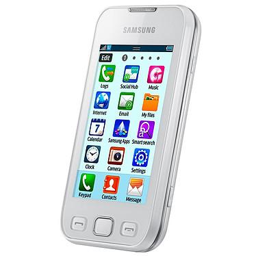 """Samsung Wave 533 AZERTY Blanc Smartphone 2G avec écran tactile 3.2"""" et clavier complet coulissant sous Bada"""