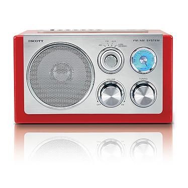 Scott RX 19 Retro Rouge Scott RX 19 Retro Rouge - Radio AM/FM MP3 avec port USB et entrée ligne