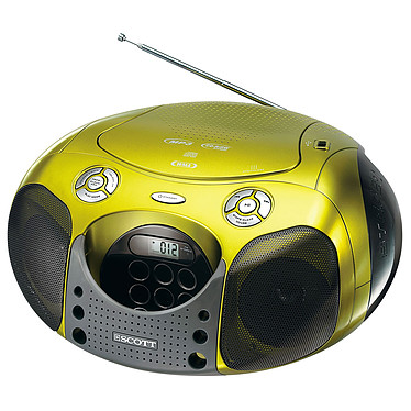 Scott SDM 25 Vert Scott SDM 25 Vert - Radio CD MP3/WMA avec port USB
