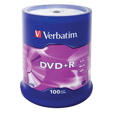 Verbatim DVD+R 4.7 Go certifié 16x (pack de 100, spindle) Verbatim DVD+R 4.7 Go certifié 16x (pack de 100, spindle)