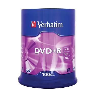 Avis Verbatim DVD+R 4.7 Go certifié 16x (pack de 100, spindle)