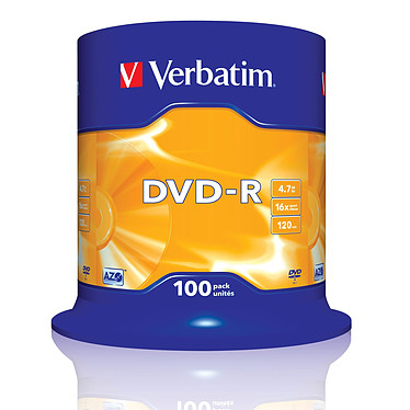 Verbatim DVD-R 4.7 GB certificado 16x (pack de 100, spindle) Verbatim DVD-R 4.7 GB certificado 16x (pack de 100, spindle)