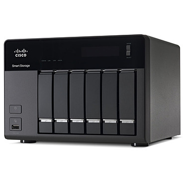 Cisco Small Business NSS 326 - 6 To (6x 1 To) Serveur NAS 6 baies avec 6 disques 1 To (non montés)