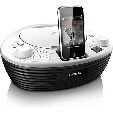 Philips AZD208 Philips AZD208 - Radio CD MP3/WMA avec station d'accueil iPod/iPhone et port USB