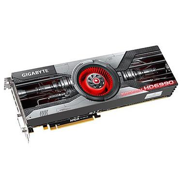 Gigabyte GV-R699D5-4GD-B 4 Go (2x 2Go) - 4x mini DisplayPort/DVI - PCI Express (AMD Radeon HD 6990)