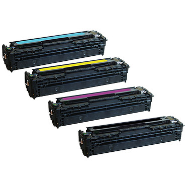 Pelikan pack compatible CB54xA (Noir + Cyan + Magenta + Jaune) + PeliCARE