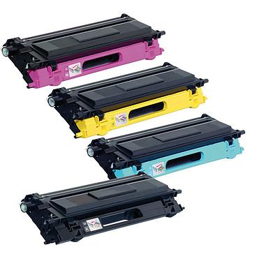 Pelikan pack compatible TN-135 (Noir + Cyan + Magenta + Jaune) + PeliCARE