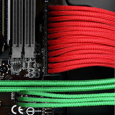 Avis BitFenix Alchemy Red - Câble d'alimentation gainé - 3 pins vers 3x 3 pins - 60 cm