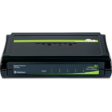 TRENDnet TEG-S5g Switch 5 ports Gigabit 10/100/1000Mbps GREENnet