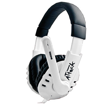 OZONE Attack Snow Casque-micro pour gamer (Edition limitée)