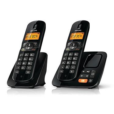 Philips CD1862 Noir Philips CD1862 Noir - Téléphone DECT sans fil avec répondeur et combiné supplémentaire (version française)