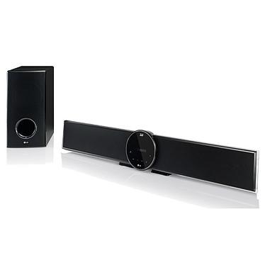 LG HLX55W LG HLX55W - Barre de son 5.1 Blu-ray 3D DLNA avec sortie HDMI 1080p, Station d'accueil iPod et Caisson de basses sans fil