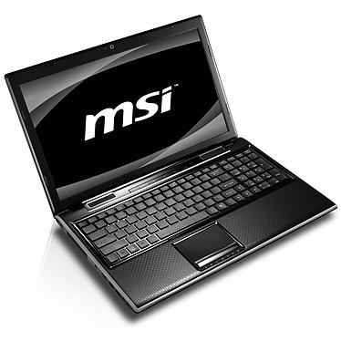 """MSI FX600MX-008 Intel Core i5-460M 4 Go 500 Go 15.6"""" LED NVIDIA GeForce 310M Graveur DVD Wi-Fi N Webcam Windows 7 Premium 64 bits (garantie constructeur 2 ans)"""