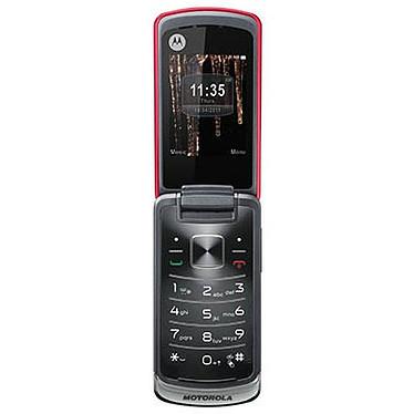 """Motorola Gleam Rouge Téléphone 2G avec écran 2.4"""" et afficheur LED"""