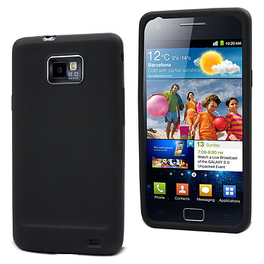 Muvit Housse silicone Noir pour Samsung i9100 Galaxy S II Muvit Housse silicone Noir (pour Samsung i9100 Galaxy S II)