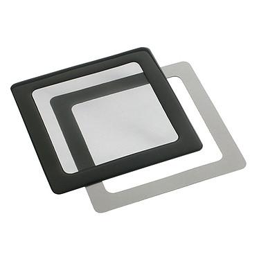 Filtre à poussière magnétique carré 80 mm (cadre noir, filtre noir)