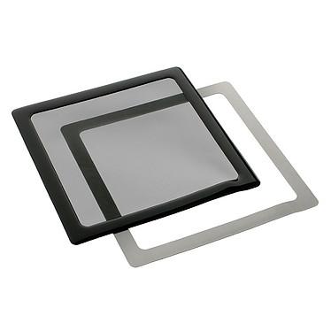Filtre à poussière magnétique carré 140 mm (cadre noir, filtre noir)