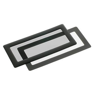 Filtre à poussière magnétique rectangulaire 2x 40 mm (cadre noir, filtre noir)