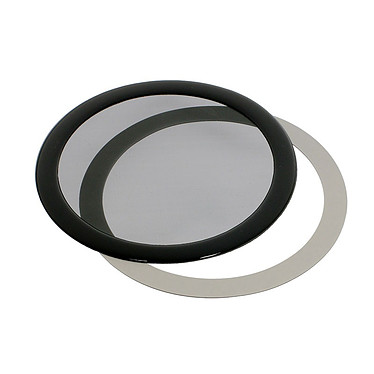 Filtre à poussière magnétique rond 140 mm (cadre noir, filtre noir)