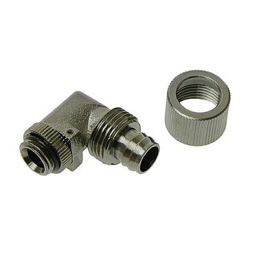"""Connecteur 1/4"""" 13/10 mm coudé 90° (coloris noir) Connecteur 1/4"""" 13/10 mm coudé 90° (coloris noir)"""