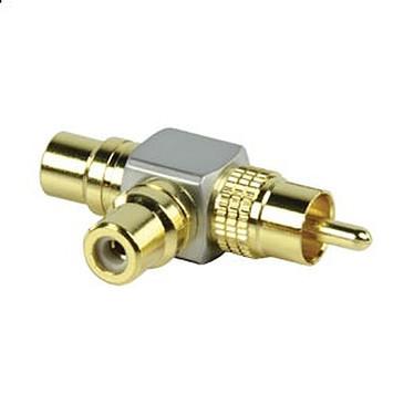 Adaptateur doubleur haute qualité RCA mâle / 2x RCA Femelle
