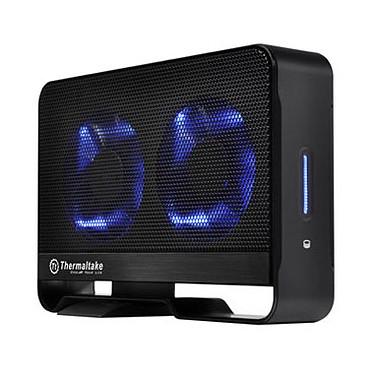 "Thermaltake Max 5 Active Cooling 3.5"" USB 2.0 Thermaltake Max 5 Active Cooling 3.5"" - Boîtier externe pour disque dur 3""1/2 SATA sur port USB 2.0/eSATA"