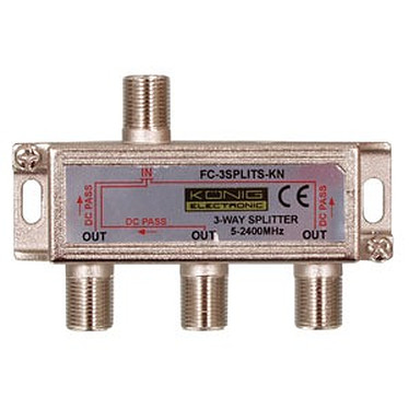 Divisor coaxial 3 vías Tipo F Divisor coaxial 3 vías Tipo F para antena de satélite