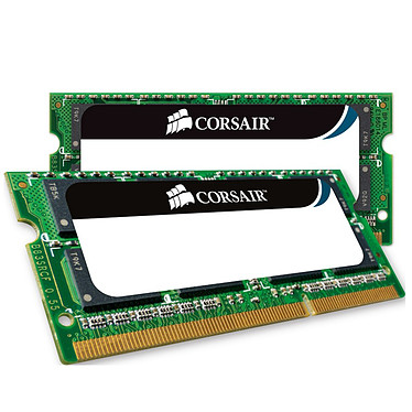 Corsair Mac Memory SO-DIMM 8 Go (2x 4 Go) DDR3 1333 MHz CL9 Kit Dual Channel RAM SO-DIMM DDR3 PC3-10600 - CMSA8GX3M2A1333C9 (Garantie à vie par Corsair)