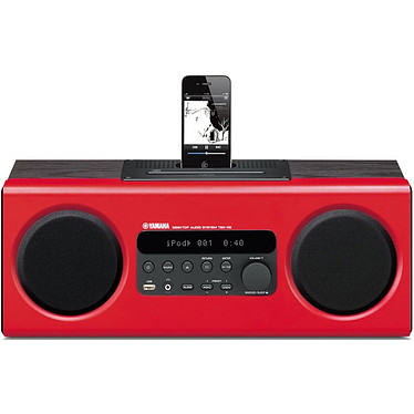 Yamaha TSX-112 Rouge Système audio lecteur CD + dock iPod / iPhone