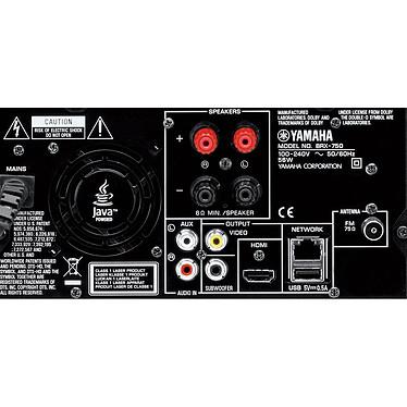 Yamaha MCR-750 Argent/noir Micro-chaîne Blu-ray 3D DLNA 1.5 pour iPod