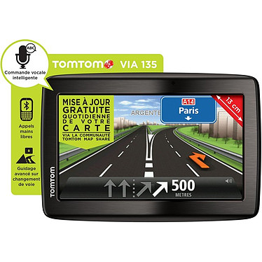 "TomTom Via 135 GPS 45 pays d'Europe Ecran 5"""