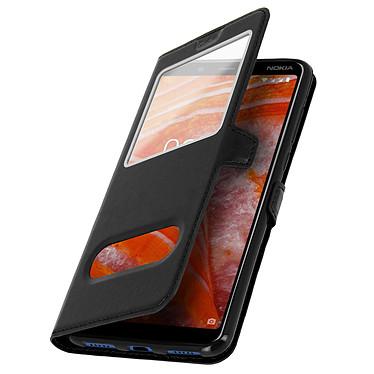 Avizar Etui folio Noir pour Nokia 3.1 Plus pas cher