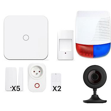 NEW DEAL INITIAL+ Wifi/Lan/GSM Pack alarme Lan/Wifi/GSM avec 10 accessoires et 1 caméra de sécurité