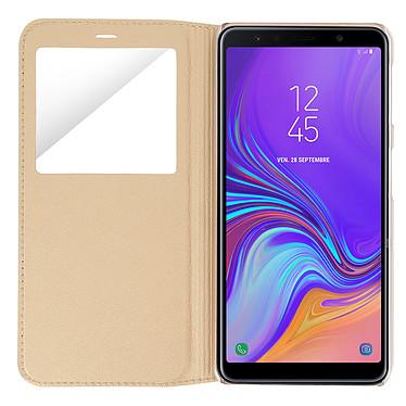 Avis Avizar Etui folio Dorée à fenêtres pour Samsung Galaxy A7 2018