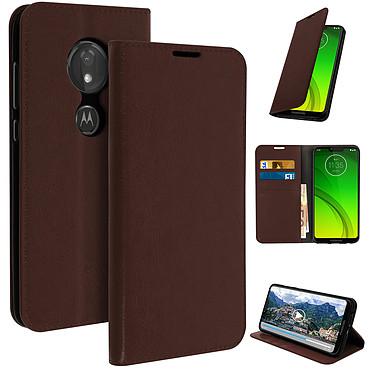 Avizar Etui folio Marron pour Motorola Moto G7 , Motorola Moto G7 Plus pas cher