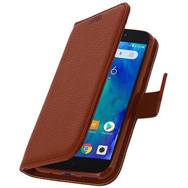 Avizar Etui folio Marron pour Xiaomi Redmi Go pas cher