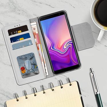 Acheter Avizar Etui folio Argent pour Samsung Galaxy J6 Plus