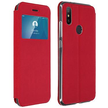 Avizar Etui folio Rouge pour Xiaomi Mi A2 Etui folio Rouge Xiaomi Mi A2